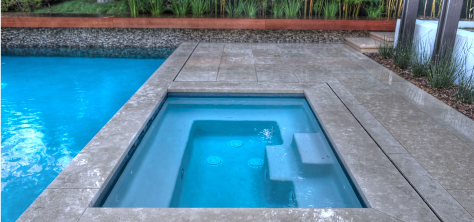 Beverly Hills Pool & Spa Design with Custom Water Feature by John ...